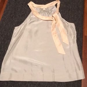 Grey and peachy tone 100% silk tank